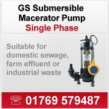 GS Submersible Macerator Pumps (Single Phase)