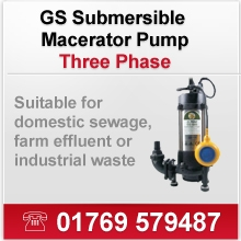GS Submersible Macerator Pumps (Three Phase)